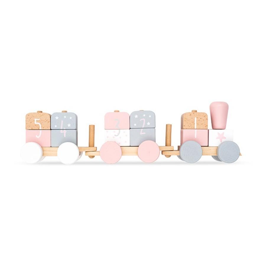 Jollein Toy vlak bílá / růžová
