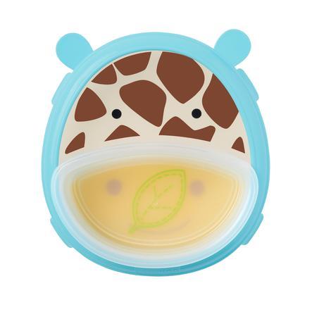 SKIP HOP Zoo Smart Serve Giraff med skridsikkert tindesæt
