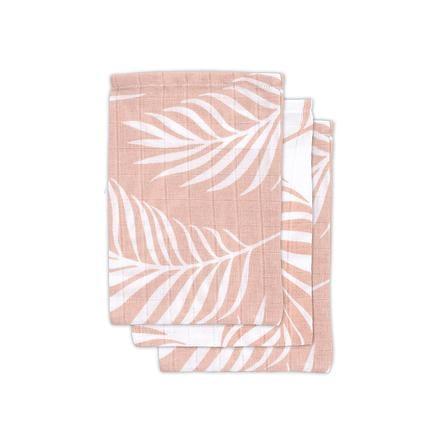 jollein Gant de toilette enfant mousseline Nature pale pink 3 pièces