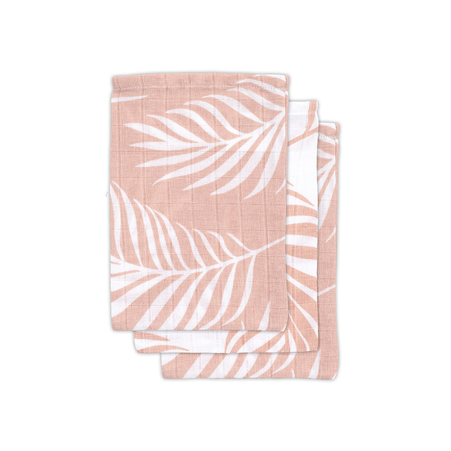 jollein Panno di garza 3-pack Nature rosa pallido