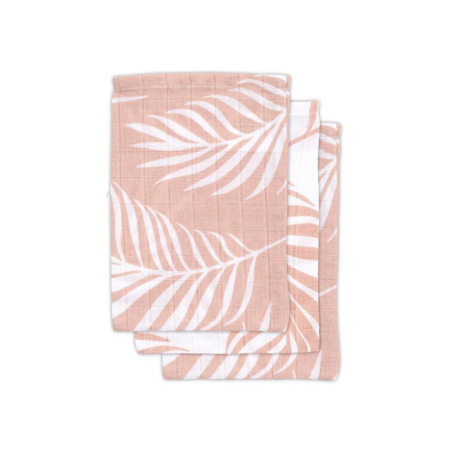 jollein Paquete de 3 paquetes de gasa rosa Nature pálido