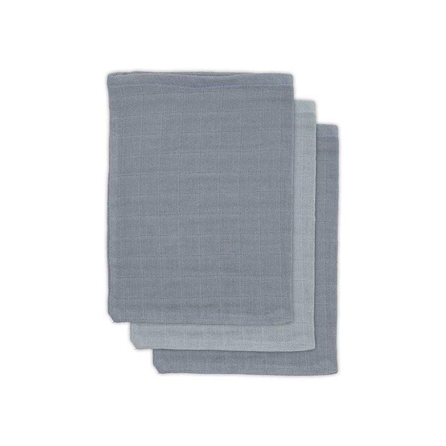jollein Bamboo Washcloth 3-pack storm grey