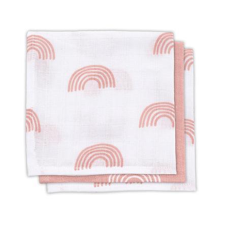 jollein Gauze Mouth Towel 3-pack Rainbow červenavě růžová