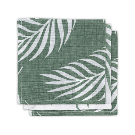 jollein Mull Mundtuch 3er-Pack Nature ash green