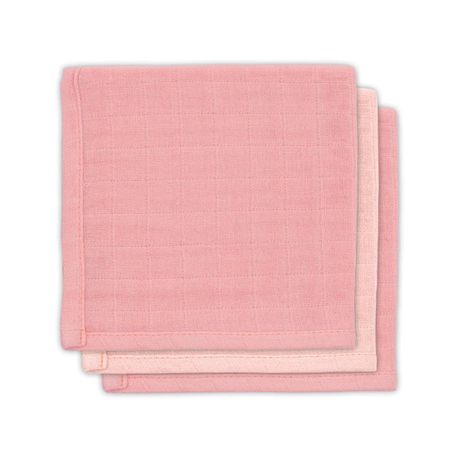 jollein Bamboe monddoekje pale pink 3 stuks