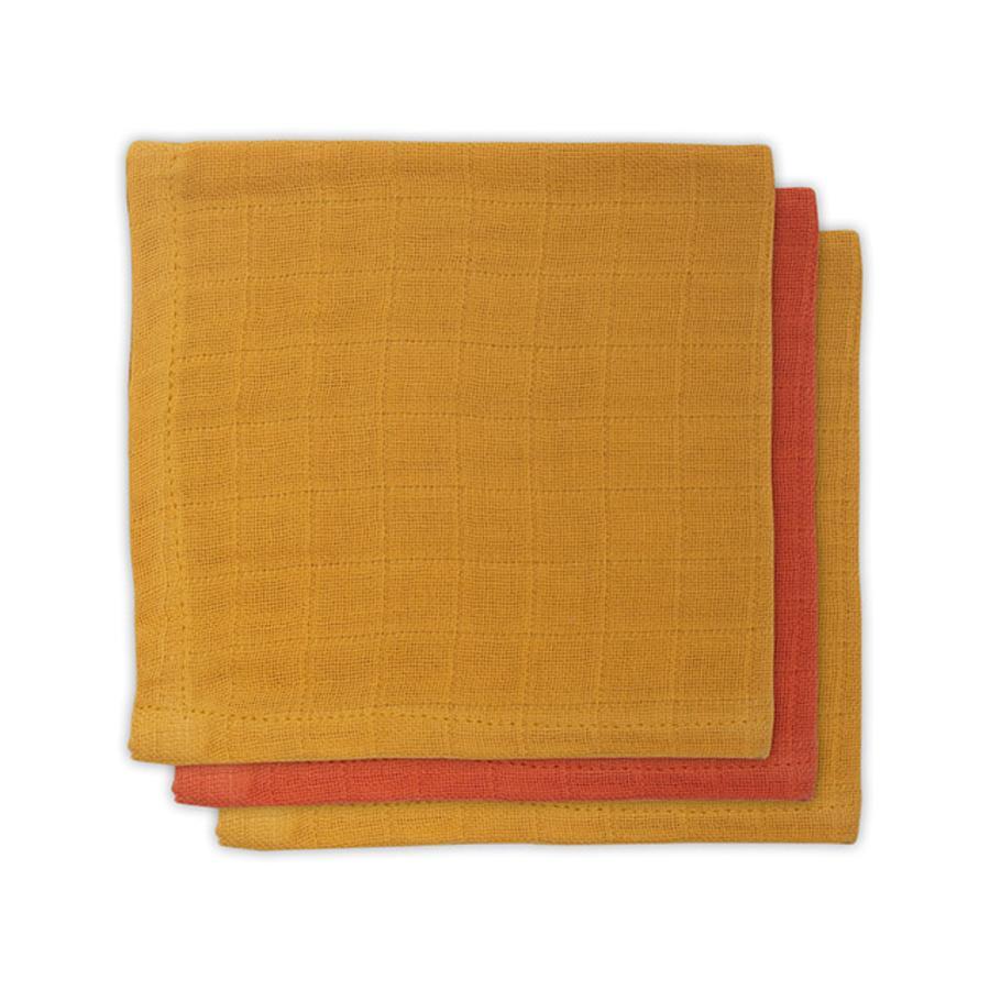 jollein Serviette de table bambou mustard rust 3 pièces