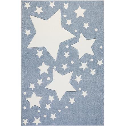 LIVONE Spiel- und Kinderteppich Kids Love Rugs Starline Blau/weiss 120 x 170 cm