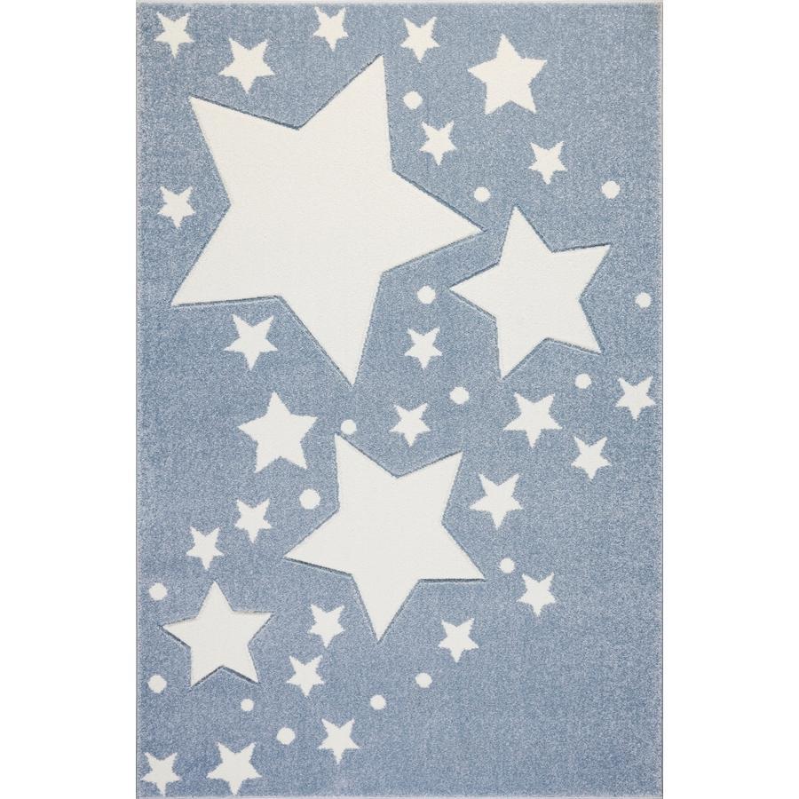 LIVONE Barnmatta Kids Love Rugs Starline - blå/vit, 160 x 220 cm