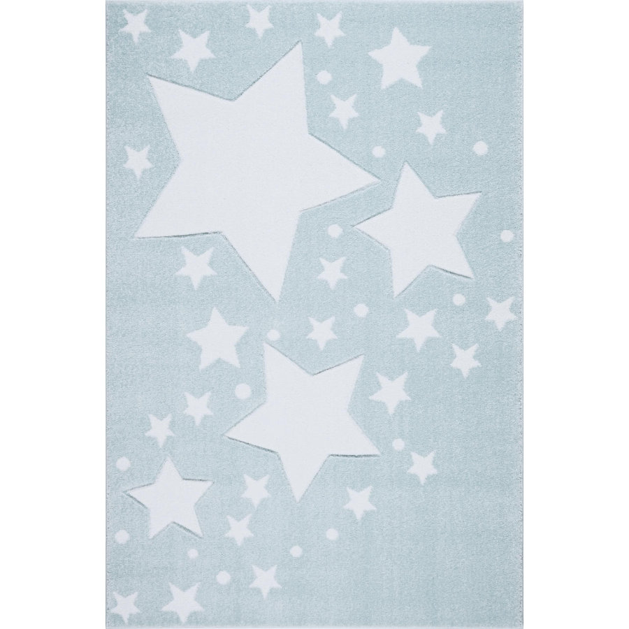 LIVONE Tapis enfant Kids Love Rugs Starline menthe/blanc 100x150 cm