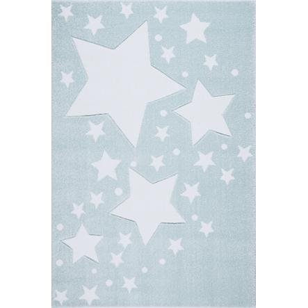 LIVONE leikki ja lasten matto Lapset rakastavat mattoja Starline-minttu / valkoinen 120 x 170