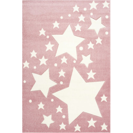 LIVONE Tapis enfant Kids Love Rugs Starline rose/blanc 100x150 cm