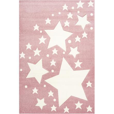 LIVONE Spiel- und Kinderteppich Kids Love Rugs Starline rosa/weiß 160 x 220 cm