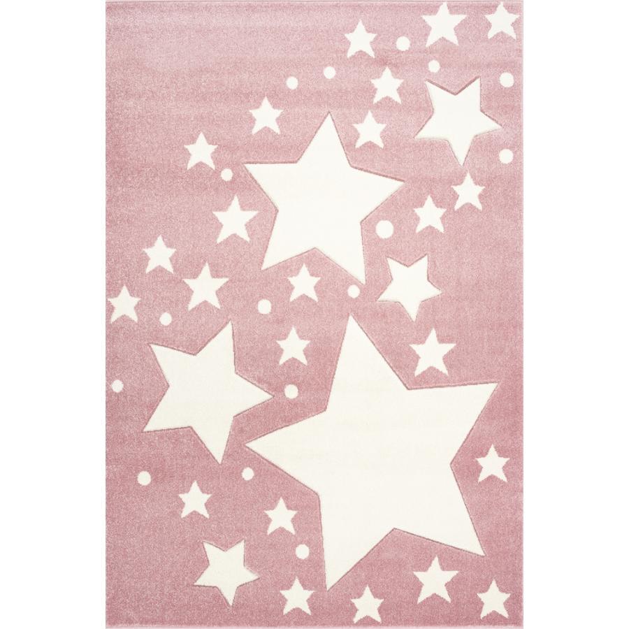 Juego LIVONE y alfombra infantil Kids Love Rugs Starline rosa/blanco 160 x 220 c