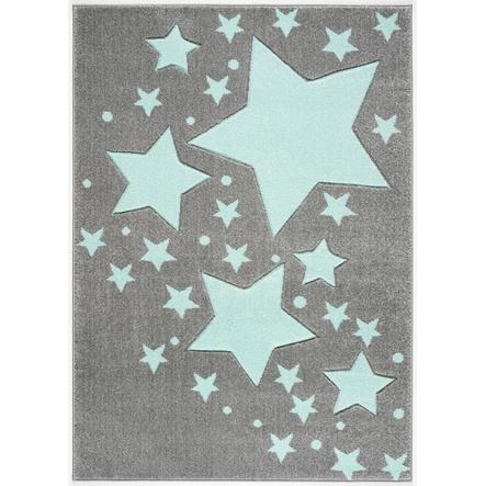 LIVONE tappeto da gioco e per bambini Kids Love Rugs Starline grigio argento/menta 100 x 150 cm