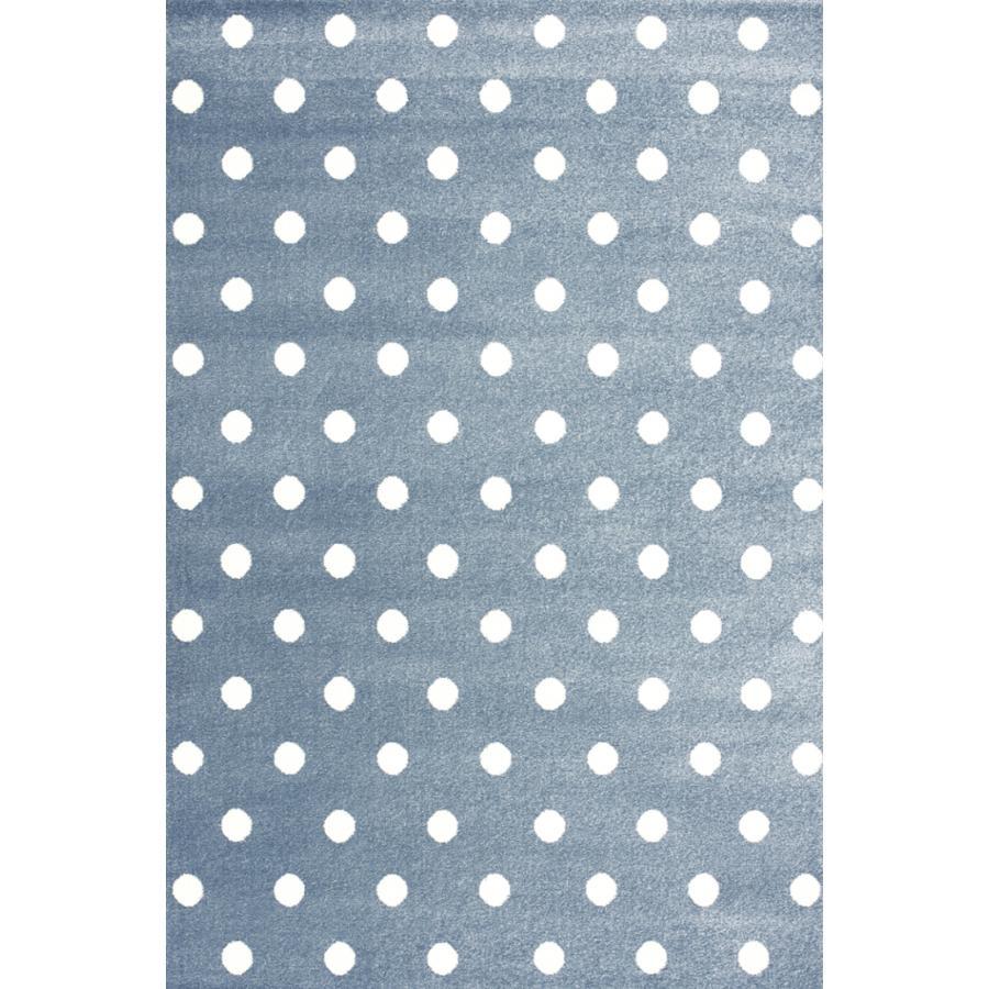 LIVONE Barnmatta Kids Love Rugs Circle - blå/vit, 160 x 220 cm