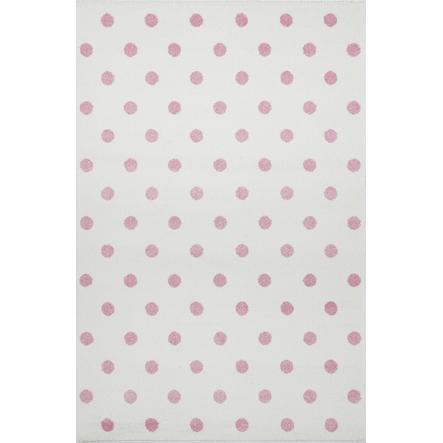 LIVONE Dywan dziecięcy Kids Love Rugs Circle 160 x 220 cm, kolor kremowy/różowy