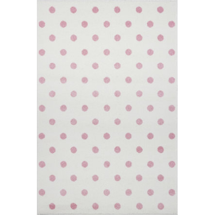 LIVONE play a dětský koberec Kids Love Rugs Circle krém / růžová, 160 x 220 cm