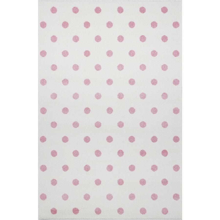 LIVONE Tapijt Kids Love Rugs Circle creme/roze 160 x 220 cm