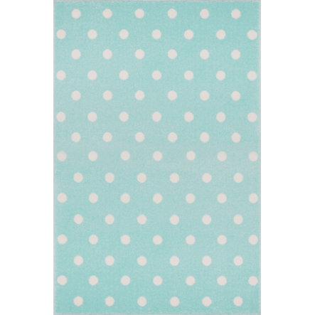 LIVONE Barnmatta Kids Love Rugs Circle - mint/vit, 100 x 150 cm