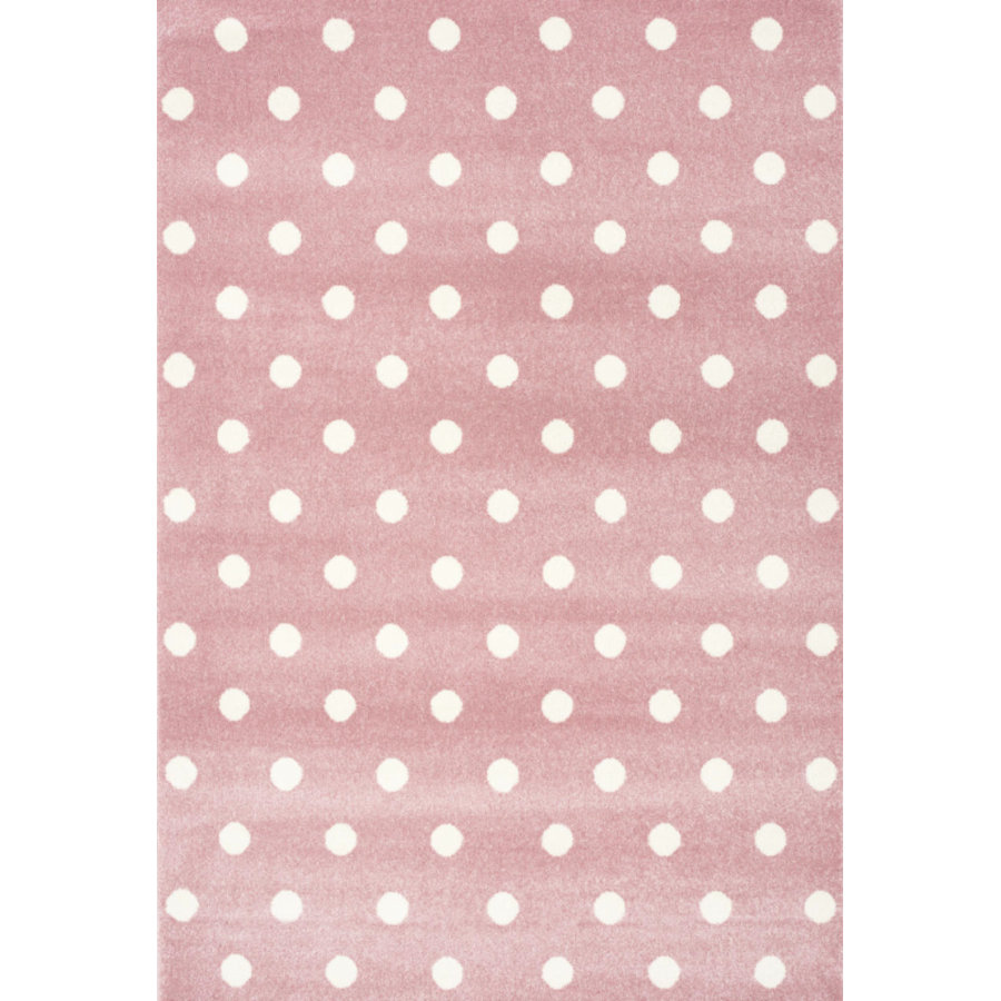 LIVONE Dywan dziecięcy Kids Love Rugs Circle 100 x 150 cm, kolor różowy/ biały