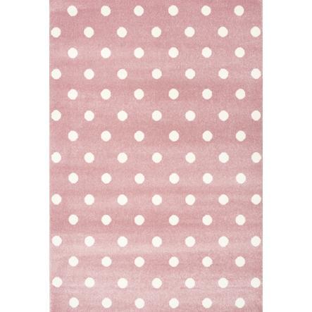 LIVONE Dywan dziecięcy  Kids Love Rugs Circle 120 x 170 cm, kolor różowy/ biały