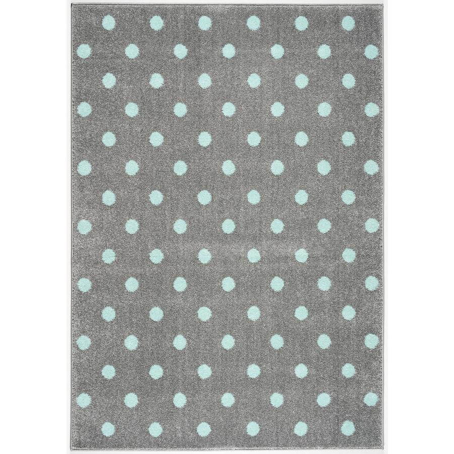 LIVONE Dywan dziecięcy Kids Love Rugs Circle 100 x 150 cm, kolor miętowy/szary
