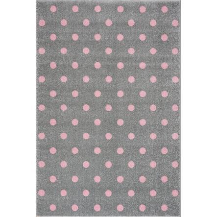 LIVONE Tapijt Kids Love Rugs Circle zilvergrijs/roze 120 x 170 cm