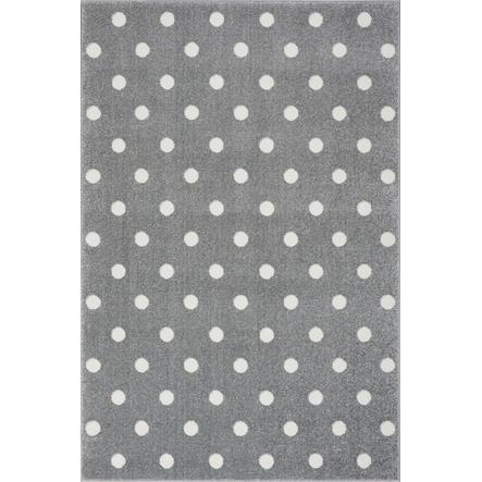 LIVONE Tapijt Kids Love Rugs Circle zilvergrijs/wit 100 x 150 cm