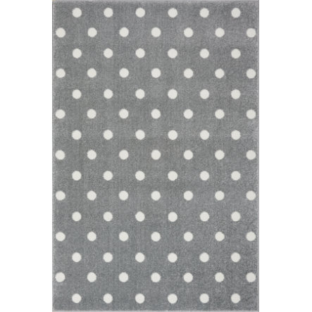 LIVONE Tapis enfant Kids Love Rugs Circle gris argenté/blanc 100x150 cm