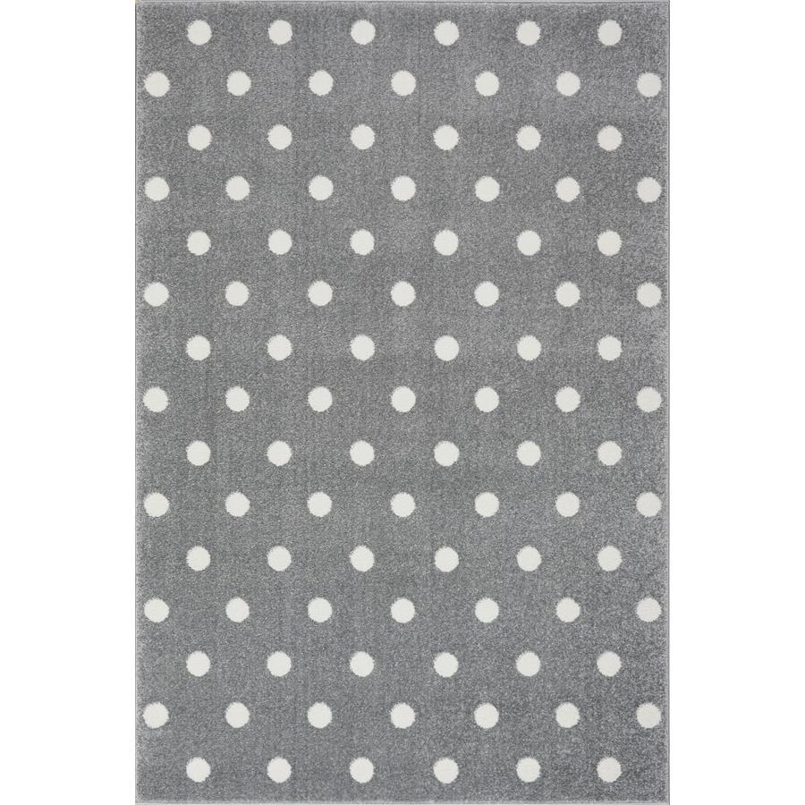 LIVONE Spiel- und Kinderteppich Kids Love Rugs Circle silbergrau/weiß, 100 x 150 cm