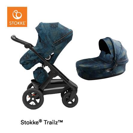 STOKKE® Kombikinderwagen Trailz™ mit Geländerädern Black/Black Freedom