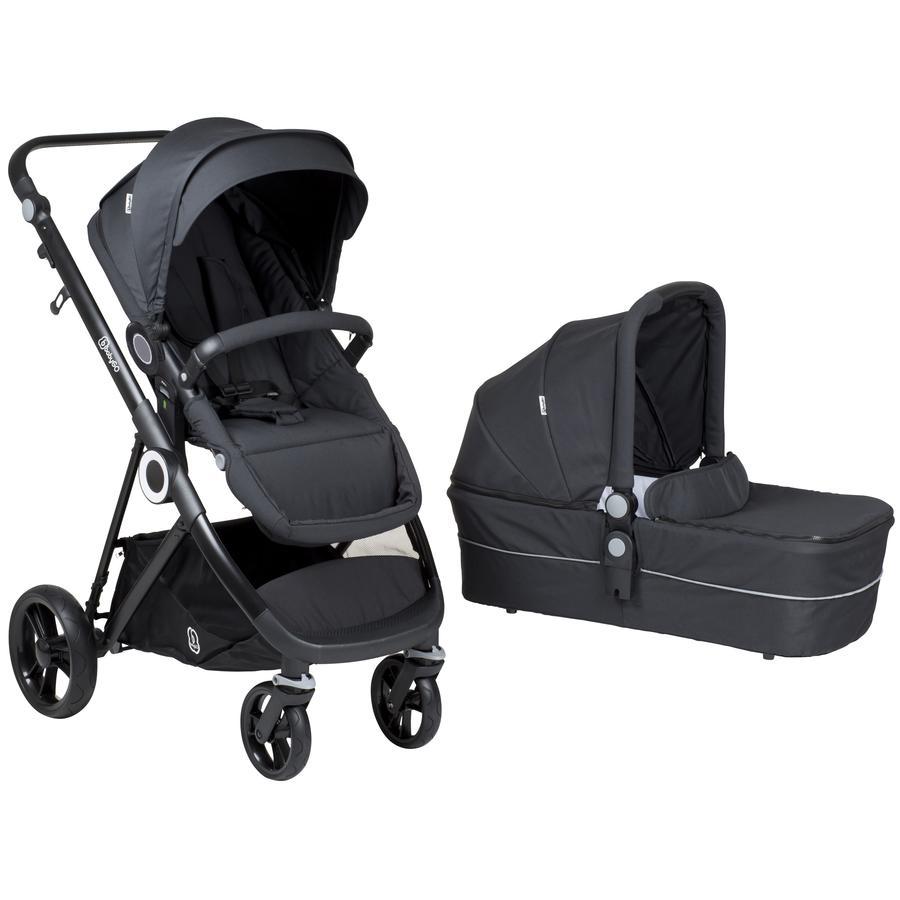 babyGO Kinderwagen Vogue Deluxe Dark Grey