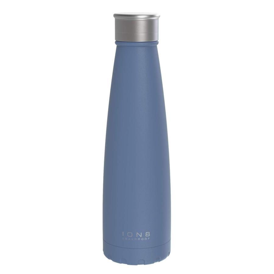ion 8 Gourde enfant anti-fuite isotherme 450 ml bleu clair inox