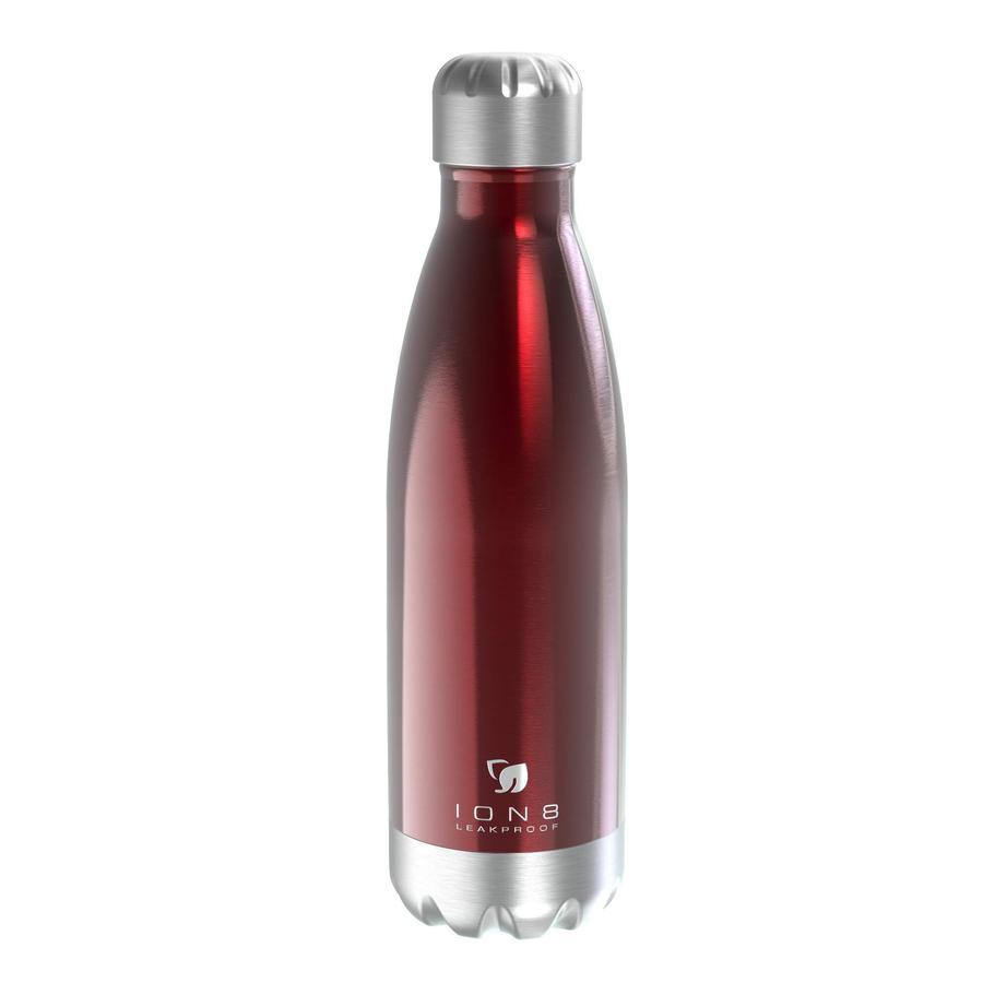 ion 8 auslaufsichere Vakuum Isolierflasche 500 ml dunkelrot