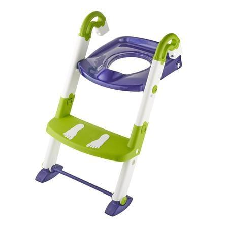 Rotho Babydesign Toilettentrainer Kidskit 3-in-1 perl blue / weiß / translucent limette