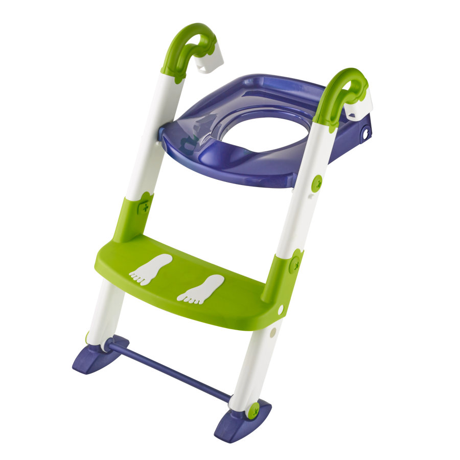 Rotho Réducteur de toilette Kidskit 3 en 1 bleu nacré/blanc/vert citron