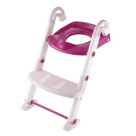 Rotho Réducteur de toilette Kidskit 3 en 1 rose nacré/blanc, rose translucide