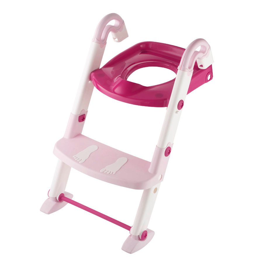 Rotho Baby design Toaletttrener Kidskit 3-i-1 øm rose / hvit gjennomsiktig rosa