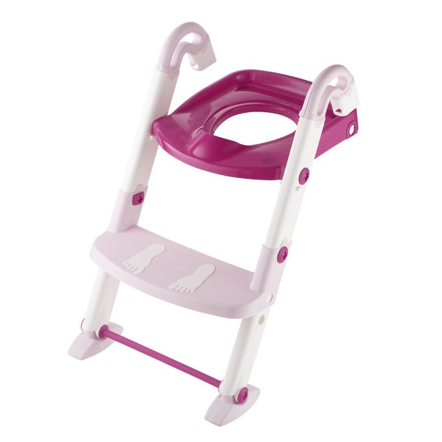 Rotho Baby Design Toilet Trainer Kidskit 3 in 1 rosa chiaro/ bianco / fucsia traslucido
