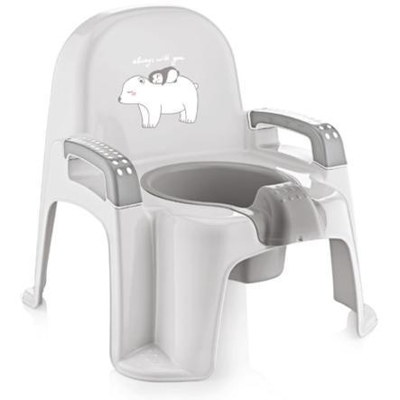 babyJem Réducteur de toilettes pot bébé gris