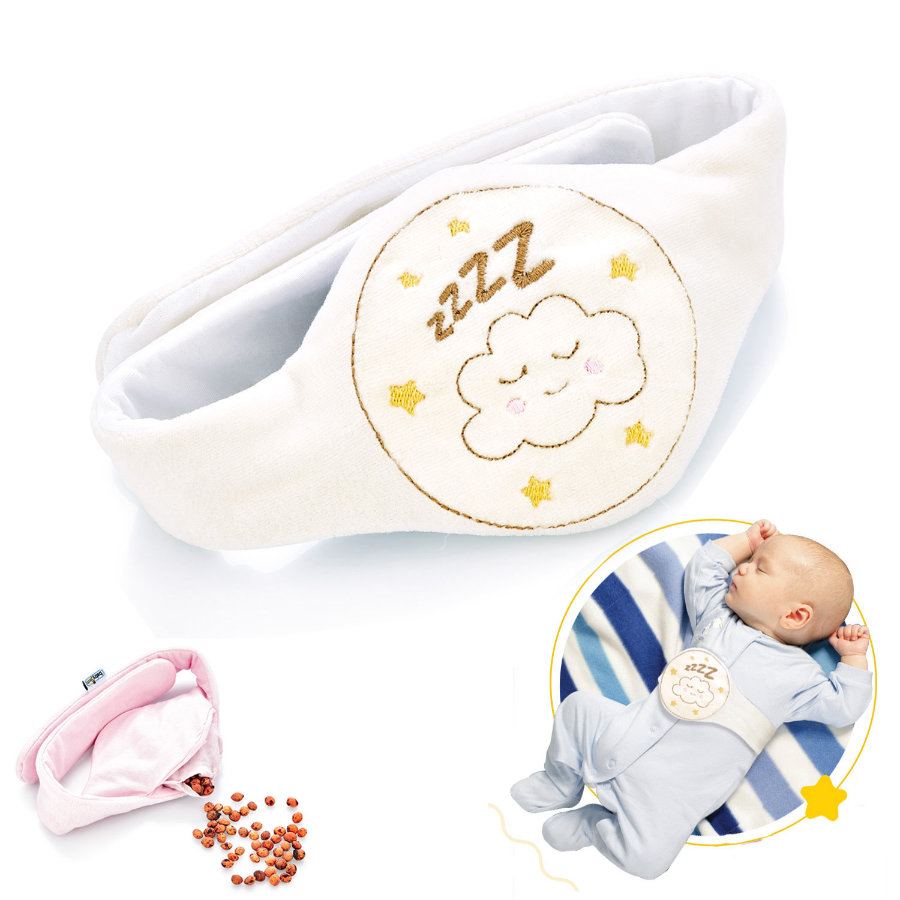 babyJem Ceinture chauffante bébé grains de cerise blanc