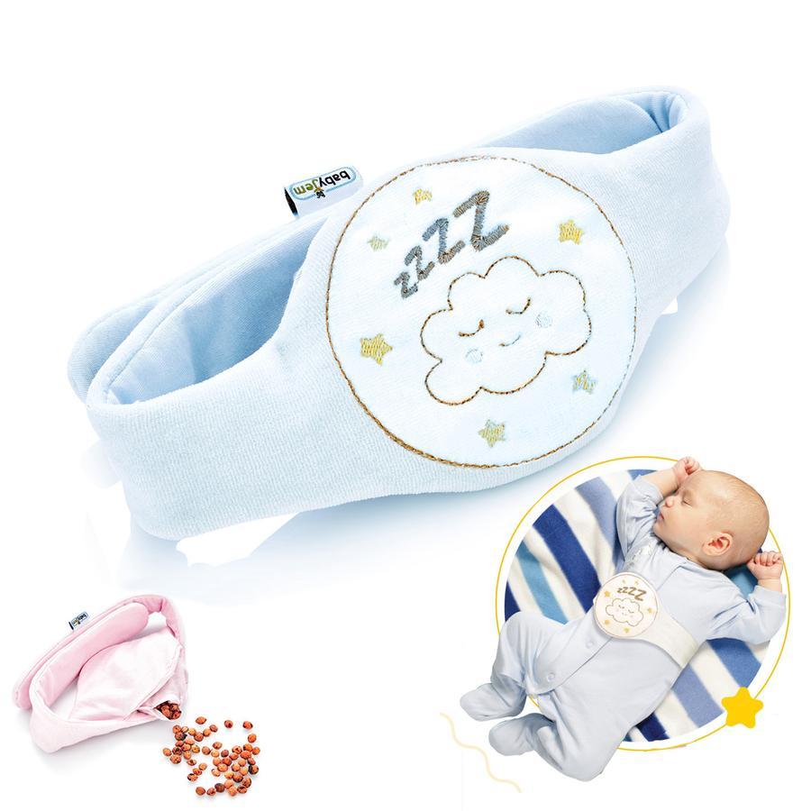 babyJem Ceinture chauffante bébé grains de cerise bleu