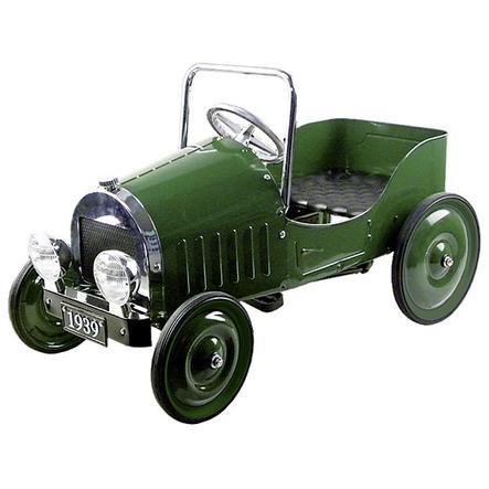 goki kovové šlapací auto s gumovými koly replika z roku 1939