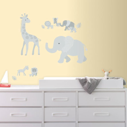 RoomMates® Autocollants muraux bébés animaux de jungle