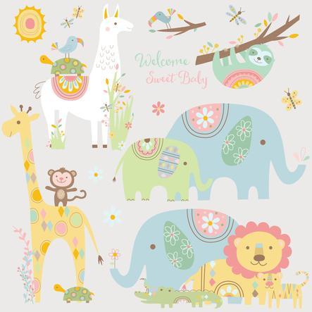RoomMates veggklistremerke - Baby dyr