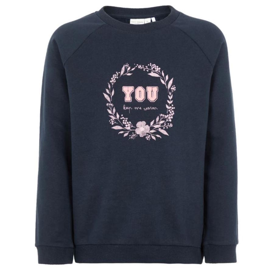name it Girls SSweatshirt NMFVENUS zaffiro scuro