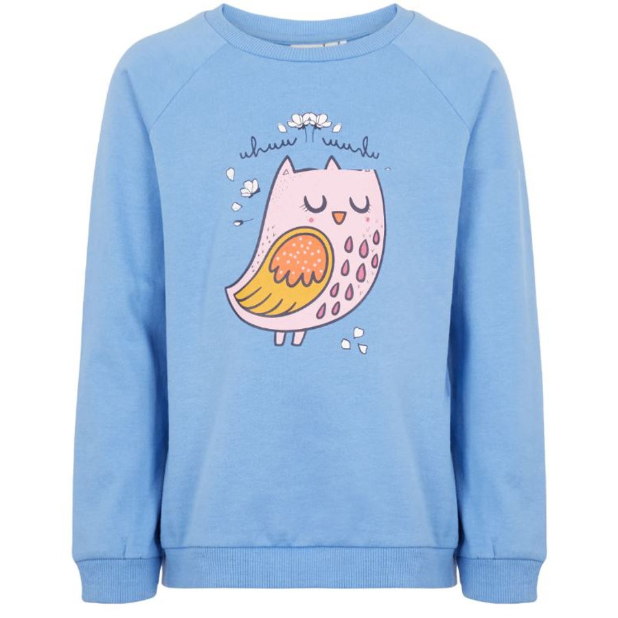 name it Girls Sweatshirt NMFVENUS blauwe motorkap