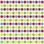 RoomMates veggklistremerker - konfetti