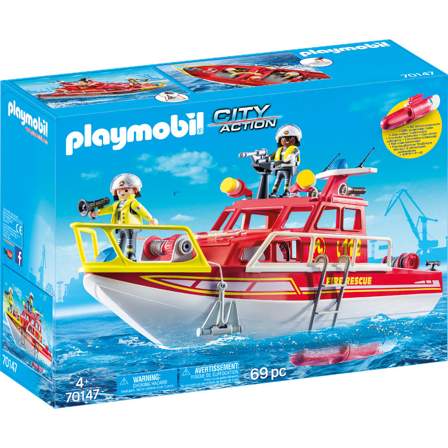 PLAYMOBIL® CITY ACTION Feuerlöschboot 70147
