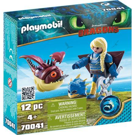 PLAYMOBIL® DRAGONS Figurine Astrid et Globegobeur combinaison vol 70041